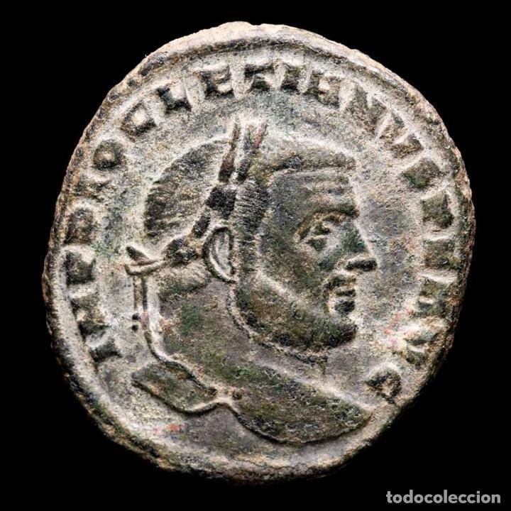 Monedas Imperio Romano: Diocleciano Follis. Cartago. SALVIS AVGG ET CAESS FEL KART // A - Foto 3 - 269388073