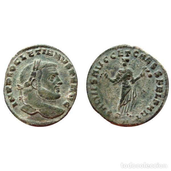 Monedas Imperio Romano: Diocleciano Follis. Cartago. SALVIS AVGG ET CAESS FEL KART // A - Foto 5 - 269388073