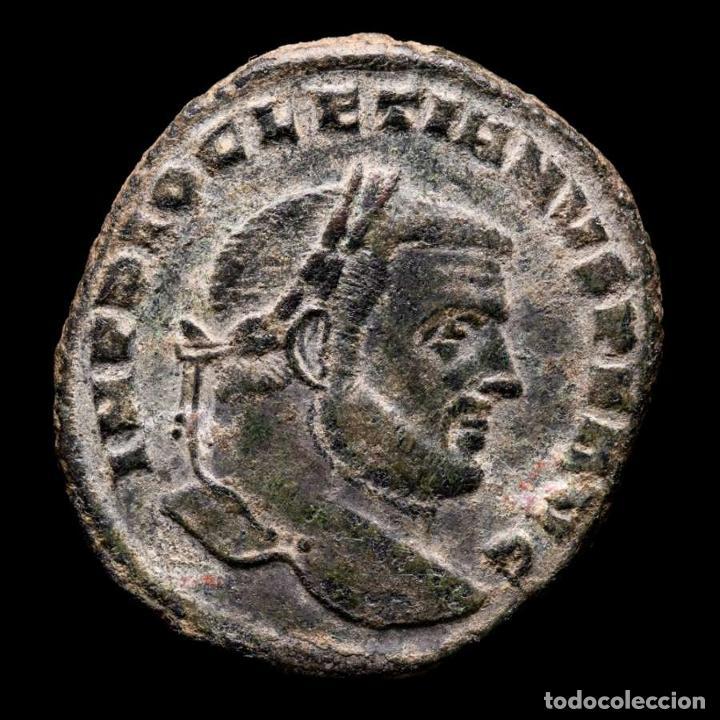 DIOCLECIANO FOLLIS. CARTAGO. SALVIS AVGG ET CAESS FEL KART // A (Numismática - Periodo Antiguo - Roma Imperio)