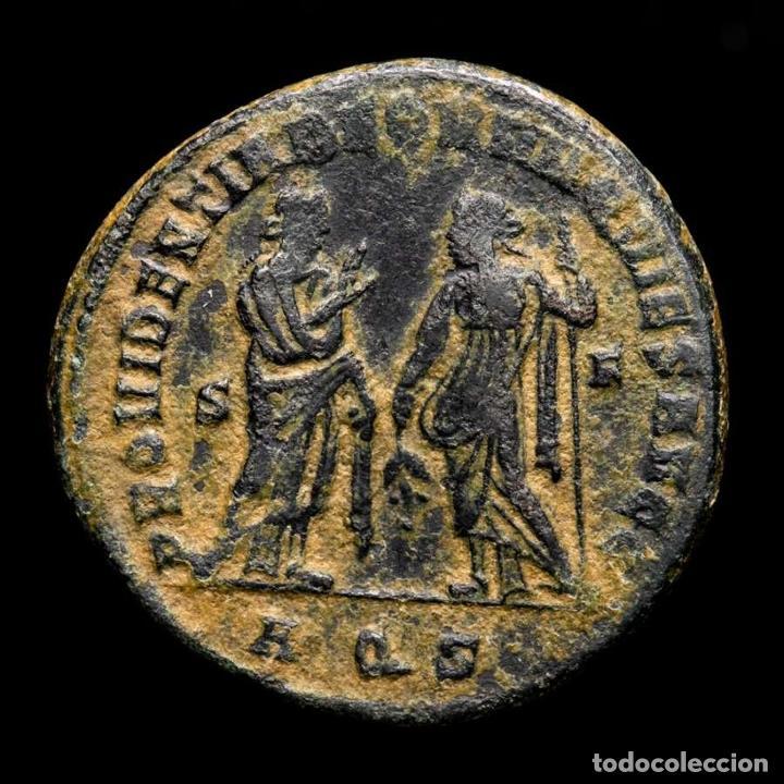 Monedas Imperio Romano: Maximiano - Follis Post Abdicacion Providencia y Quies - Aquileia. - Foto 2 - 269388508