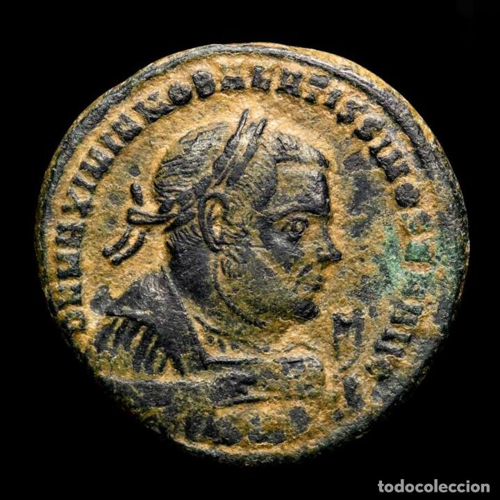 MAXIMIANO - FOLLIS POST ABDICACION PROVIDENCIA Y QUIES - AQUILEIA. (Numismática - Periodo Antiguo - Roma Imperio)