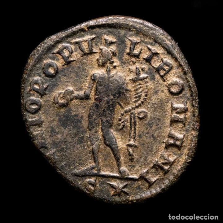 Monedas Imperio Romano: Maximiano - follis de Roma, GENIO POPVLI ROMANI / S✩ (6057) - Foto 2 - 269388568
