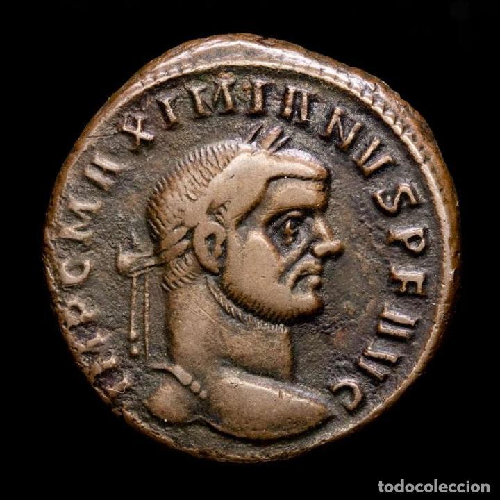 MAXIMIANO, FOLLIS DE TICINUM, 303 DC. - GENIO POPVLI ROMANI / ST (Numismática - Periodo Antiguo - Roma Imperio)