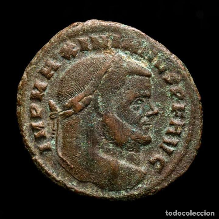MAXIMIANO 286-305 FOLLIS CARTAGO. SALVIS AVGG ET CAESS FEL KART / A (Numismática - Periodo Antiguo - Roma Imperio)