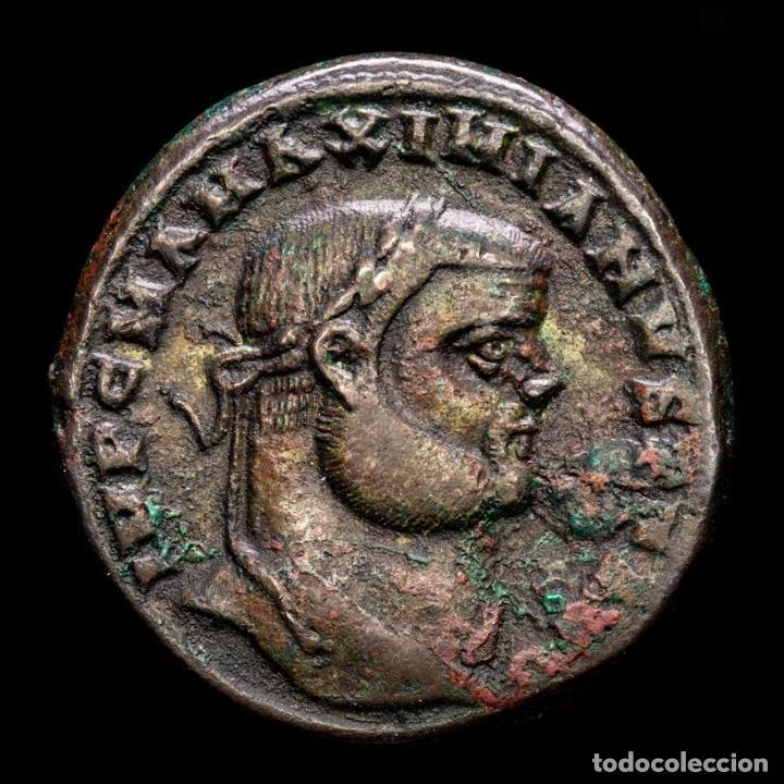 Monedas Imperio Romano: Maximiniano - Follis, Alejandria, GENIO POPVLI ROMANI XX-ΔI / ALE - Foto 2 - 269389328