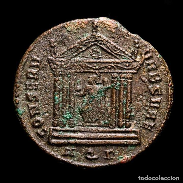 MAXIMIANO - FOLLIS DE AQUILEIA - TEMPLO CONSERV VRB SVAE / AQΓ (Numismática - Periodo Antiguo - Roma Imperio)