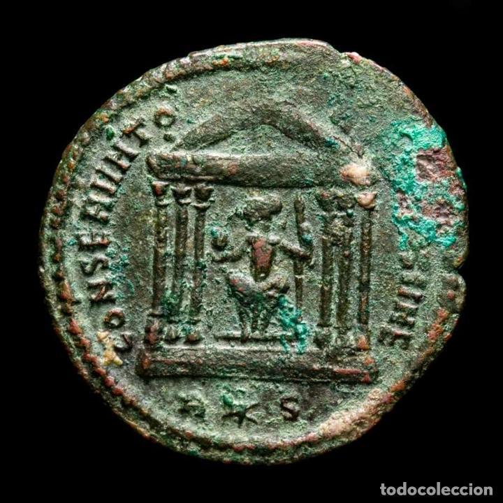 MAXIMIANO - FOLLIS DE ROMA - TEMPLO CONSERVATORES VRB SVAE / R✩P (Numismática - Periodo Antiguo - Roma Imperio)