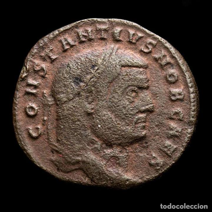 Monedas Imperio Romano: Constancio I Cesar - Follis de Roma - Moneta / T Maza en exergo - Foto 2 - 269389933