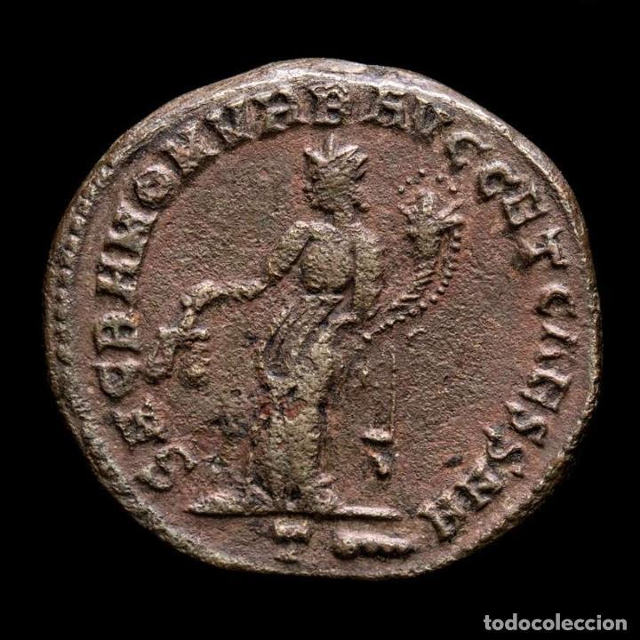 CONSTANCIO I CESAR - FOLLIS DE ROMA - MONETA / T MAZA EN EXERGO (Numismática - Periodo Antiguo - Roma Imperio)