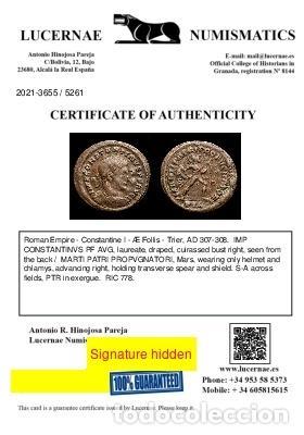 Monedas Imperio Romano: Constantino I - Follis - Trier MARTI PATRI PROPVGNATORI S-A / PTR - Foto 3 - 269390023