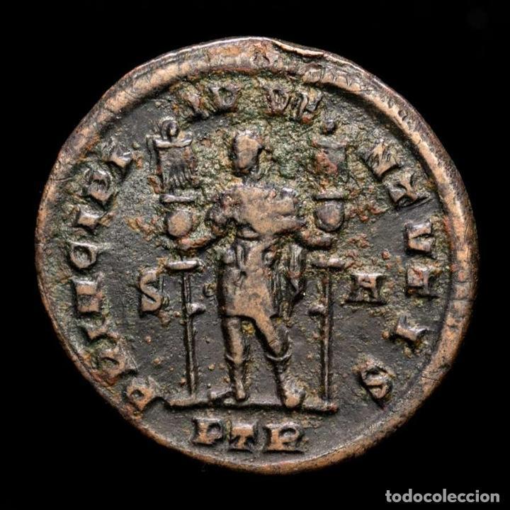 Monedas Imperio Romano: Constantino Cesar, Follis Trier. PRINCIPI IVVENTVTIS S-A / PTR. - Foto 2 - 269390623