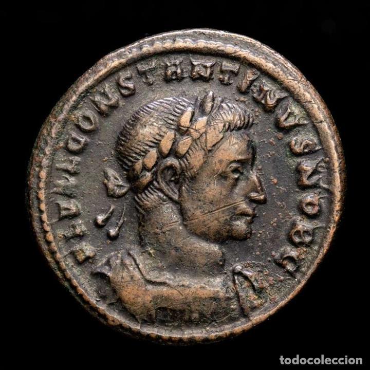 CONSTANTINO CESAR, FOLLIS TRIER. PRINCIPI IVVENTVTIS S-A / PTR. (Numismática - Periodo Antiguo - Roma Imperio)
