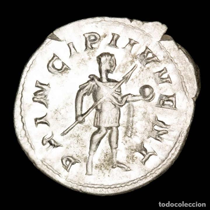 Monedas Imperio Romano: Filipo II, antoniniano de plata sin circular. Roma, PRINCIPI IVVENT - Foto 2 - 269441973