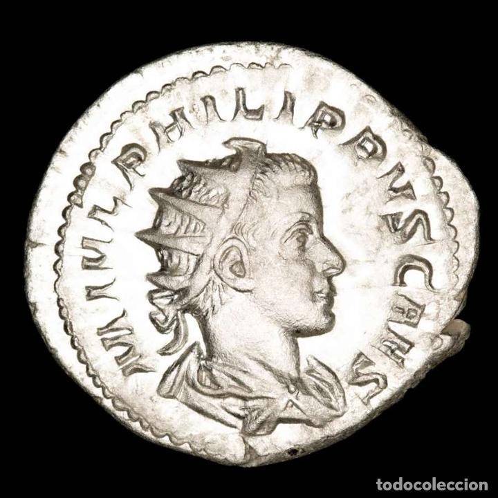 FILIPO II, ANTONINIANO DE PLATA SIN CIRCULAR. ROMA, PRINCIPI IVVENT (Numismática - Periodo Antiguo - Roma Imperio)