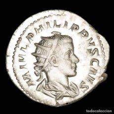 Monedas Imperio Romano: FILIPO II, ANTONINIANO DE PLATA SIN CIRCULAR. ROMA, PRINCIPI IVVENT. Lote 269441973