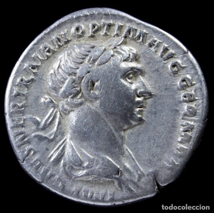 DENARIO DE TRAJANO - PARTHICO PM TR P COS VI PP SPQR - 18 MM / 3.20 GR. (Numismática - Periodo Antiguo - Roma Imperio)