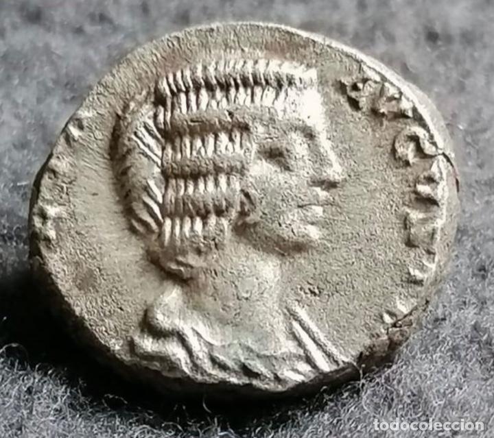 DENARIO DE PLATA. JULIA DOMNA (193-217 AD) AG. 2,44, 16 MM. JVNO REGINA. SILVER DENARIUS. (Numismática - Periodo Antiguo - Roma Imperio)