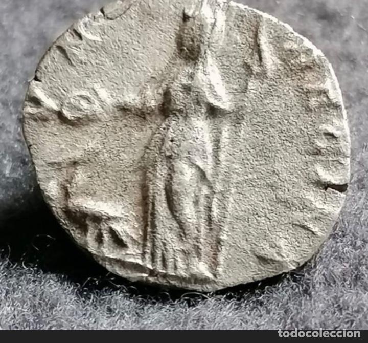 Monedas Imperio Romano: Denario de plata. Julia Domna (193-217 AD) Ag. 2,44, 16 mm. JVNO REGINA. Silver denarius. - Foto 2 - 269490048
