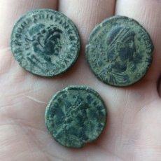 Monedas Imperio Romano: LOTE DE 3 MAYORINAS DE CONSTANTINO,CONSTANCIO Y TEODOSIO.. Lote 271409088