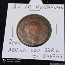 Monedas Imperio Romano: AS DE VESPASIANO, BUEN ESTADO, ESCASO.. Lote 271830773