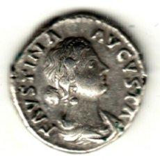 Monedas Imperio Romano: DENARIO PLATA IMPERIO ROMANO FAUSTINA HIJA REVERSO IVNONI REGINAE 161-175 D.C.. Lote 273327298