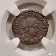 Monedas Imperio Romano: IMPERIO ROMANO. CONSTANTIUS II (AS CAESAR AD 324-337). BI NUMMUS, GLORIA EXERCITVS - NGC. Lote 275591393