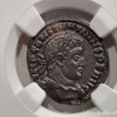 Monedas Imperio Romano: IMPERIO ROMANO. CONSTANTINO I (306-337 E. C.). BI REDUCED NUMMUS, ROME, C.- SOLI INVICTO COMITI- NGC. Lote 275592003