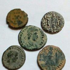 Monedas Imperio Romano: 5 BAJO IMPERIO- SIGLO IV - LOTE VI. Lote 277227333