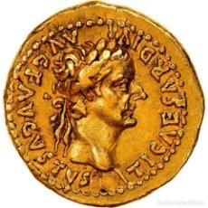 Monedas Imperio Romano: [#908382] MONEDA, TIBERIUS, QUINARIUS, 33-34, LYON - LUGDUNUM, EXTREMELY RARE, EBC+, ORO. Lote 278182023