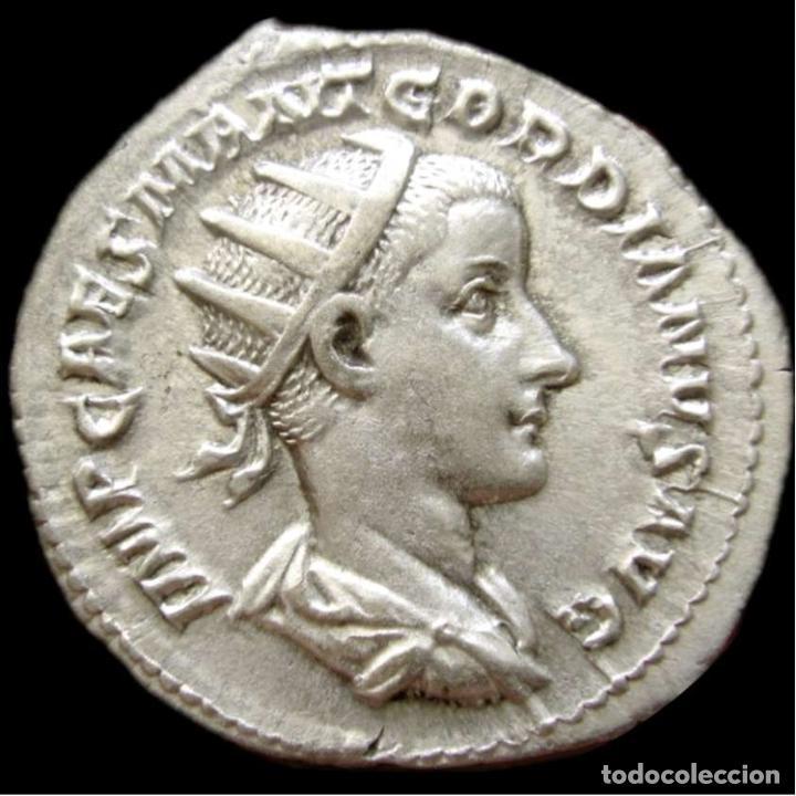 Monedas Imperio Romano: Imperio Romano Gordiano III. Antoniniano Plata IOVI CONSERVATORI EBC - Foto 3 - 278188003