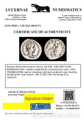 Monedas Imperio Romano: Imperio Romano Gordiano III. Antoniniano Plata IOVI CONSERVATORI EBC - Foto 7 - 278188003