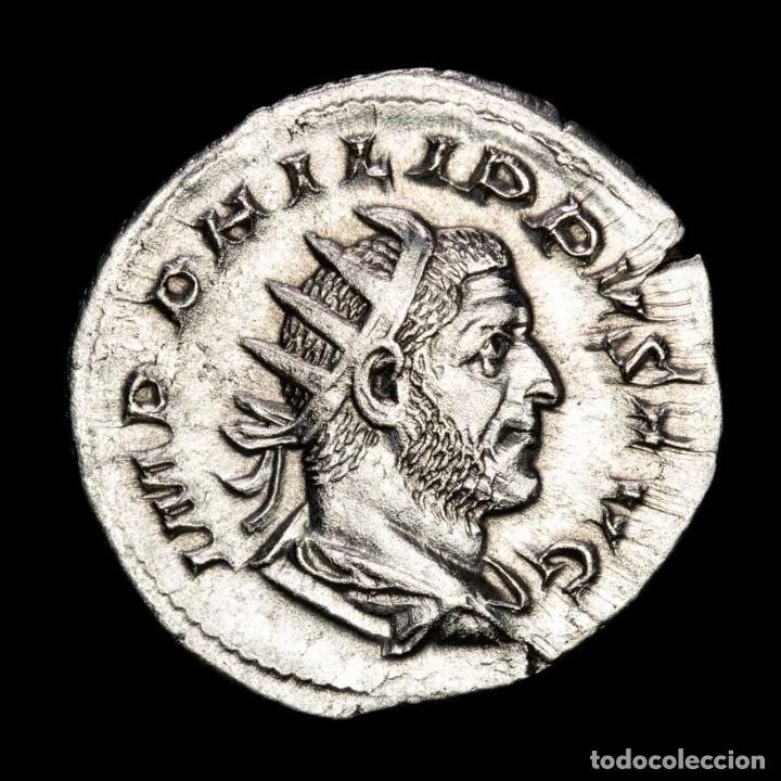 FILIPO I - ANTONINIANO DE PLATA, LIMPIADO. NOBILITAS AVGG. ROMA. (Numismática - Periodo Antiguo - Roma Imperio)