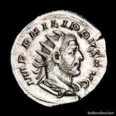 Monedas Imperio Romano: FILIPO I - ANTONINIANO DE PLATA, LIMPIADO. NOBILITAS AVGG. ROMA.. Lote 278188053