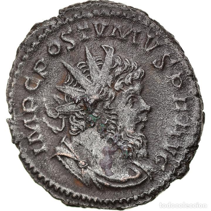 [#897748] MONEDA, POSTUMUS, ANTONINIANUS, 266, COLOGNE, RARE, MBC+, VELLÓN, RIC:300 (Numismática - Periodo Antiguo - Roma Imperio)