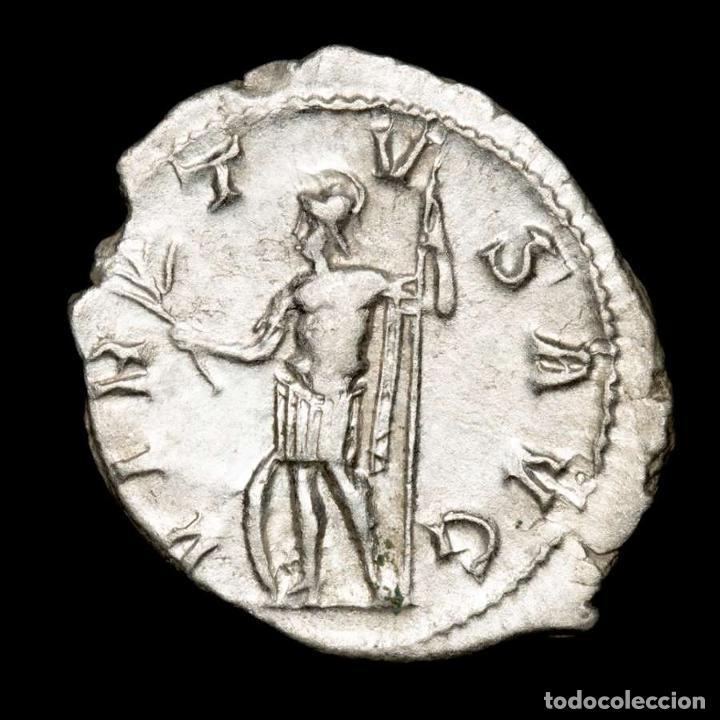 Monedas Imperio Romano: Gordiano III - Antoniniano de plata. Roma. VIRTVS AVG Marte (xb506) - Foto 2 - 278622293