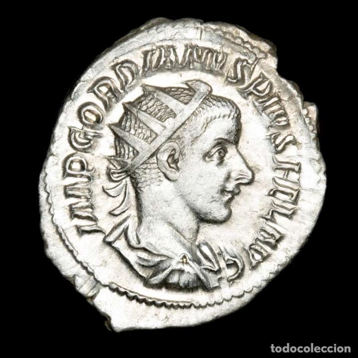 GORDIANO III - ANTONINIANO DE PLATA. ROMA. VIRTVS AVG MARTE (XB506) (Numismática - Periodo Antiguo - Roma Imperio)