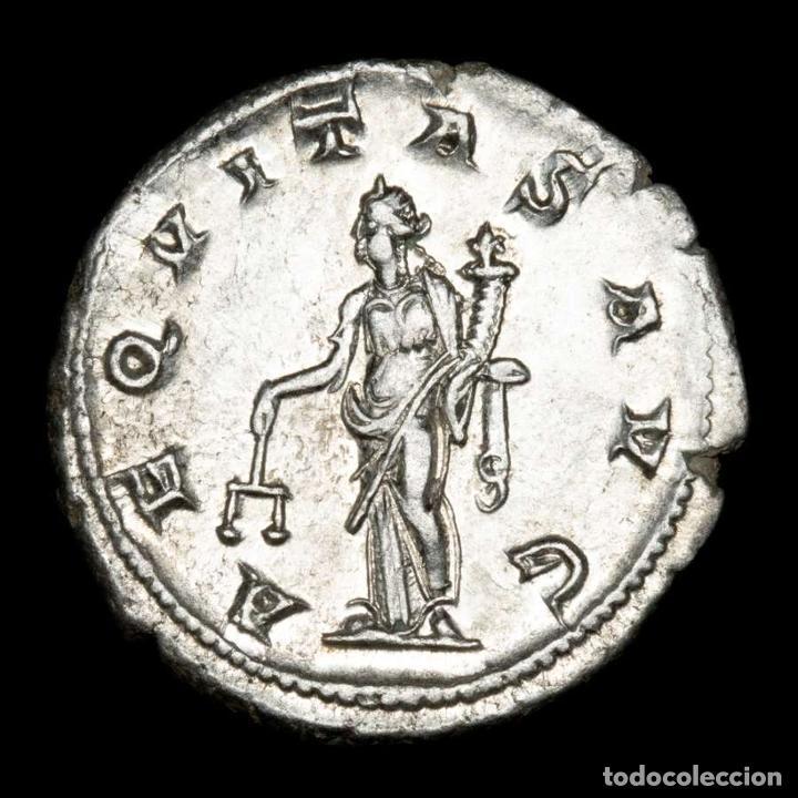 Monedas Imperio Romano: Imperio Romano - Gordiano. Antoniniano AR. AEQVITAS AVG (xb507) - Foto 2 - 278622768