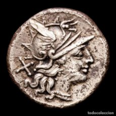 Monedas Imperio Romano: ROMA REPUBLICA 149 AC. C. JUNIUS C. F. DENARIO C•IVNI•C•F DIOSCUROS. Lote 287978673