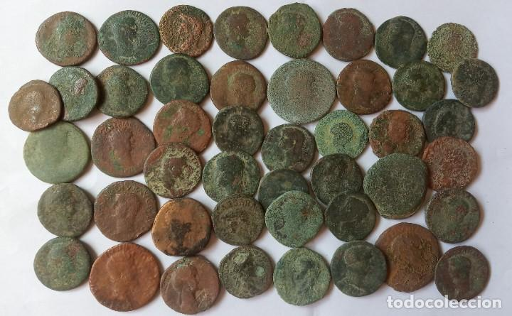 LOTE DE 43 ASES. (Numismática - Periodo Antiguo - Roma Imperio)