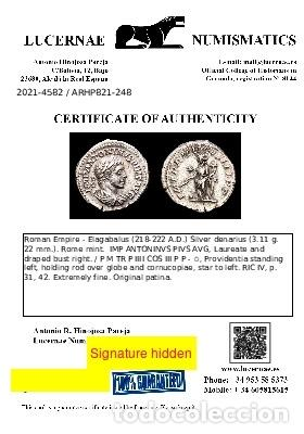 Monedas Imperio Romano: Heliogabalo, denario Roma P M TR P IIII COS III P P - ✩ providencia - Foto 3 - 288597238