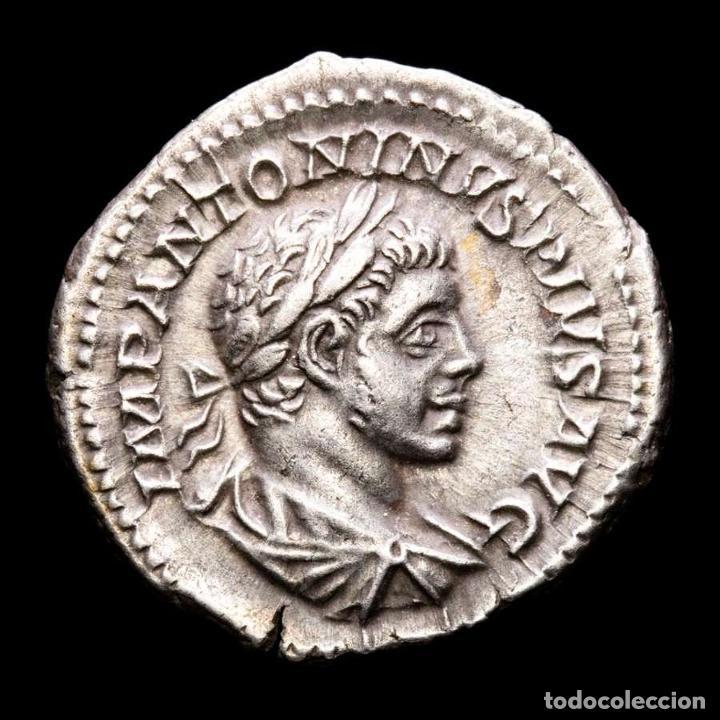 HELIOGABALO, DENARIO ROMA P M TR P IIII COS III P P - ✩ PROVIDENCIA (Numismática - Periodo Antiguo - Roma Imperio)