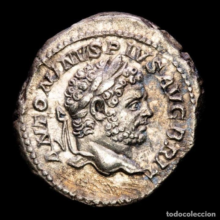 CARACALLA 198-217 DC. DENARIO DE PLATA. ROMA 213 DC. PROFECTIO AVG (Numismática - Periodo Antiguo - Roma Imperio)