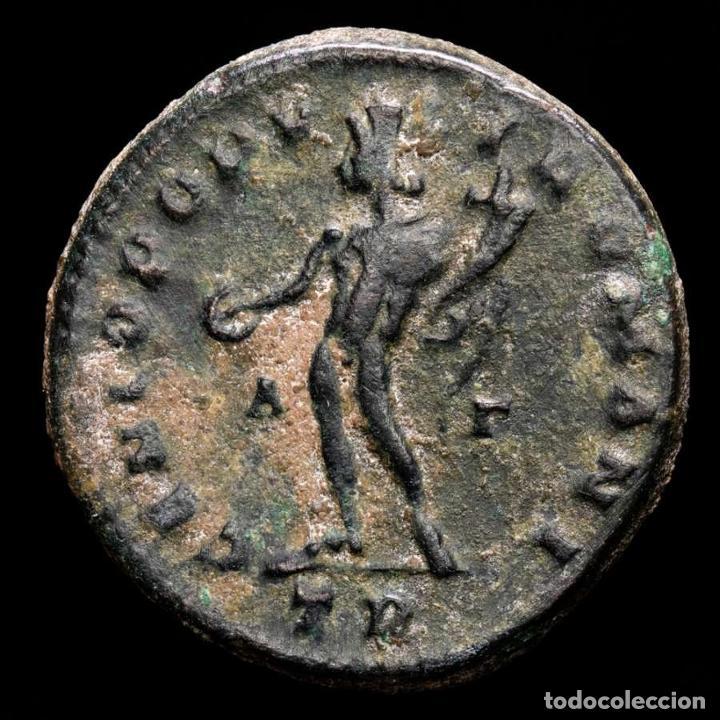 Monedas Imperio Romano: Constancio I follis. Trier 298/9 dC. GENIO POPVLI ROMANI B-Γ TRP. - Foto 2 - 289819388