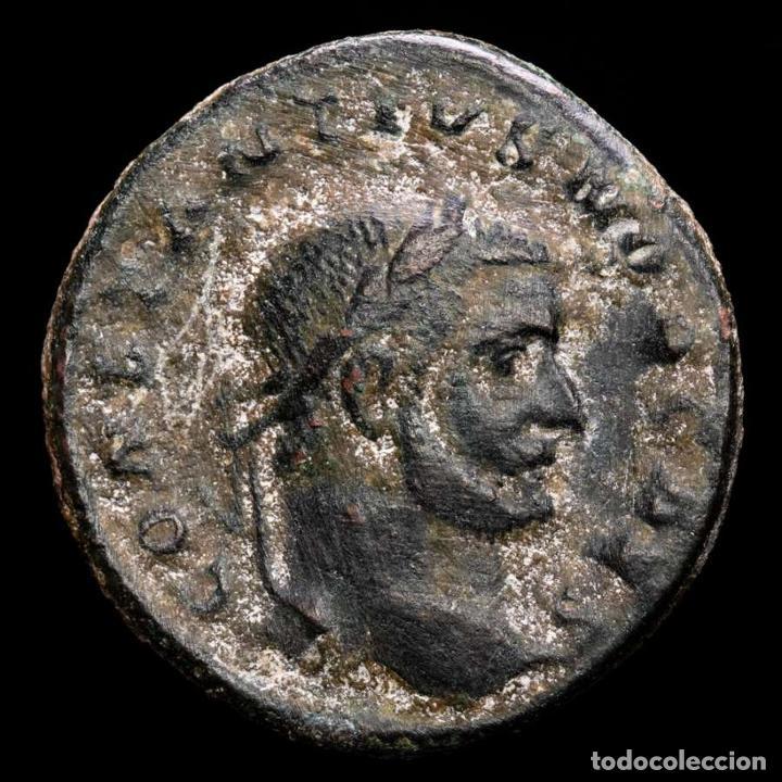 CONSTANCIO I FOLLIS. TRIER 298/9 DC. GENIO POPVLI ROMANI B-Γ TRP. (Numismática - Periodo Antiguo - Roma Imperio)