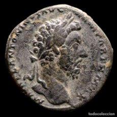 Monedas Imperio Romano: MARCO AURELIO SESTERCIO, ROMA 166 D.C. VICTORIA SOSTENIENDO ESCUDO. Lote 290023853
