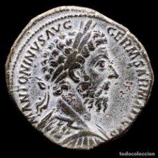 Monedas Imperio Romano: MARCO AURELIO SESTERCIO TR P XXX IMP VIII COS III PIETAS, ROMA 175.. Lote 290027088