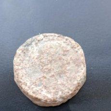 Monedas Imperio Romano: ANTIGUA FICHA MONETARIA ROMANA EN PLOMO. CARA DE ADRIANO. Lote 290042918