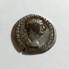 Monedas Imperio Romano: AUTENTICO DENARIO ROMANO DE PLATA AÑO 112/114 D.C.. Lote 291003308
