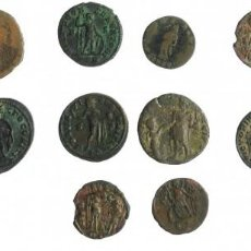 Monedas Imperio Romano: 14 FOLLIS ROMANOS DIFERENTES PARA ANALIZAR. BONITO LOTE. Lote 293974663