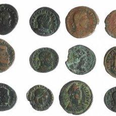 Monedas Imperio Romano: 14 FOLLIS ROMANOS DIFERENTES PARA ANALIZAR. BONITO LOTE. Lote 293974733